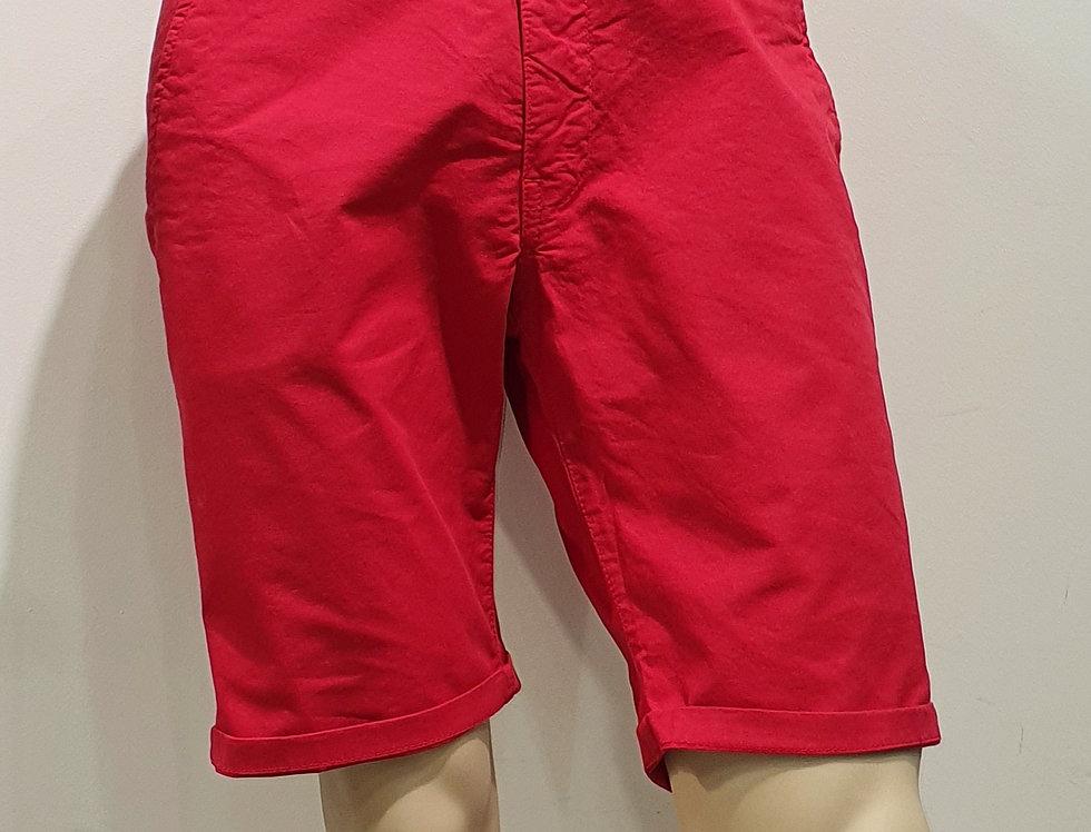 "Bermuda  ""CHINO"" coton élasthanne uni Rouge (Réf : B2)"