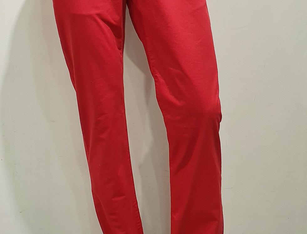"""Pantalon homme  """"CHINO"""" coton/élasthanne uni rouge (Réf P6)"""