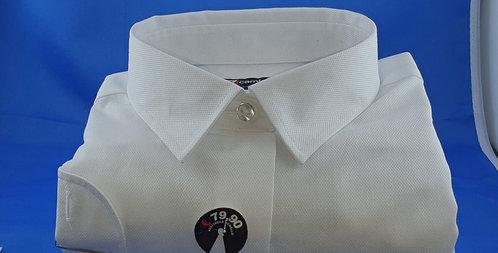 Chemise Femme Blanc NO IRON piqué de coton Classique (Réf: Y25)