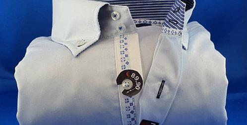 Chemise Homme Satin de coton gorge fantaisie boutonnage classique (Réf: 8)