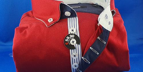 Chemise Homme popeline stretch gorge rayée boutonnage classique (Réf: D3)