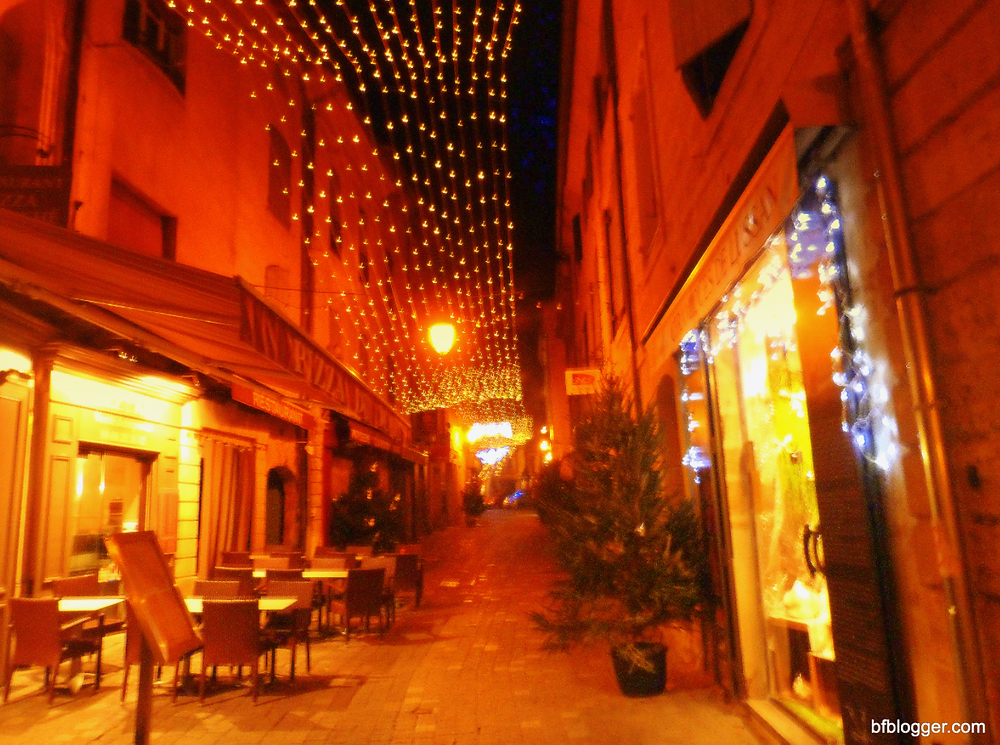 My friend Deborah's photo of Uzes at Christmas time