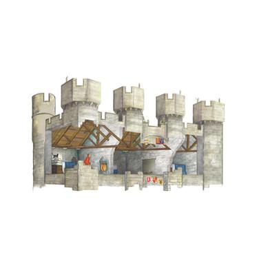 Cutaway Illustration: Hylton Castle Project