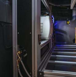 Water hookups on passenger side cabinet