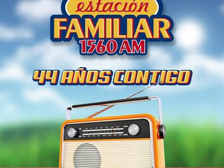 ANIVERSARIO 44 ¡GRACIAS A TI POR SER PARTE DE LA ESTACIÓN FAMILIAR!