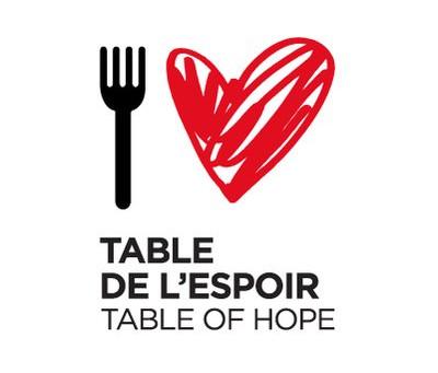 Table de l'Espoir - Table of Hope 2018