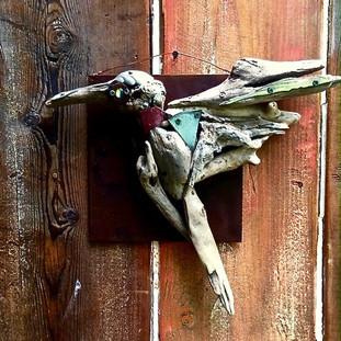 Humming bird wall sculpture