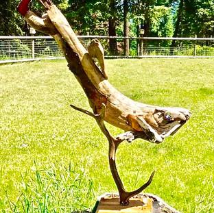 Fish #15 on Elk antler SOLD