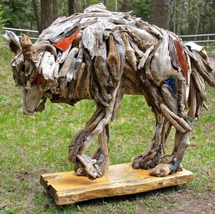 Nakota large wolf