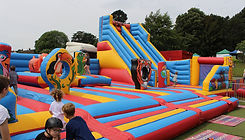 Bouncy slide and adventure area