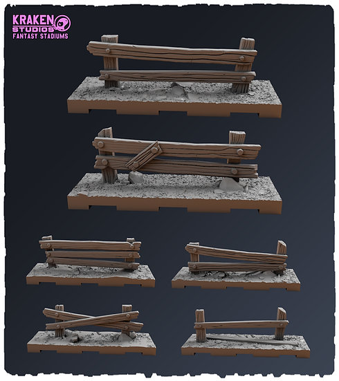 WOODEN-FENCES (Tiles and Scatter Terrain)