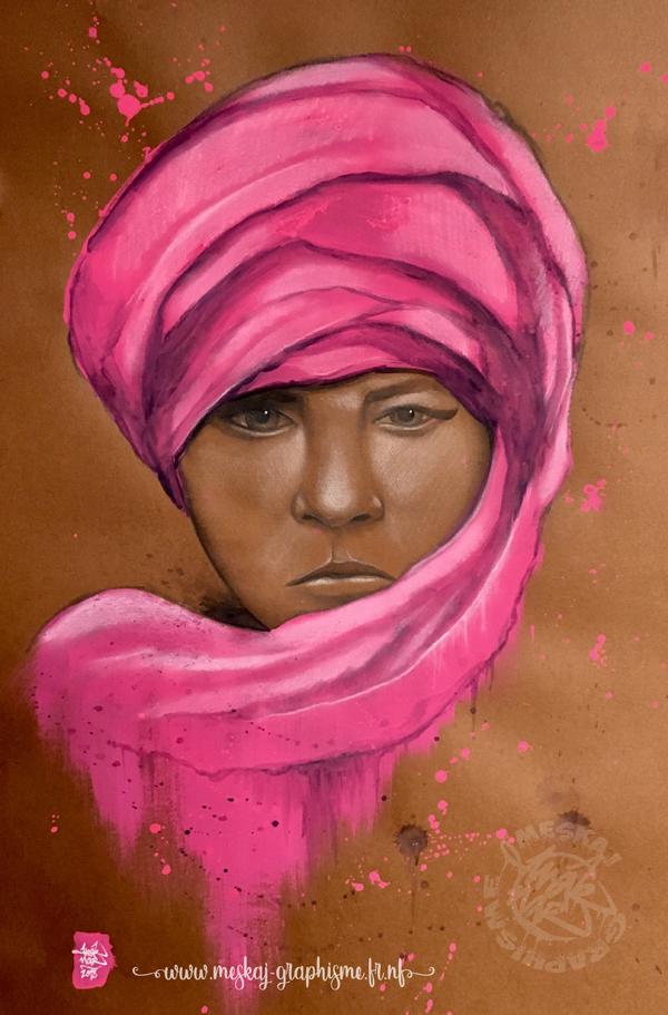 Portrait Pink ladie