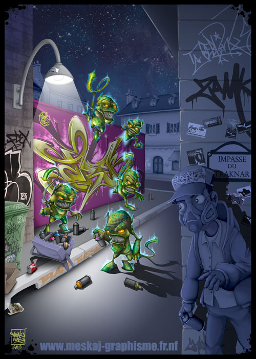 Invaderz-graffiti