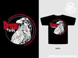 Patron Tshirt Crow Family Black