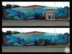 Fresque Sur le thème des fonds marin