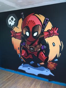 Déco chambre enfant Deadpool Cartoon