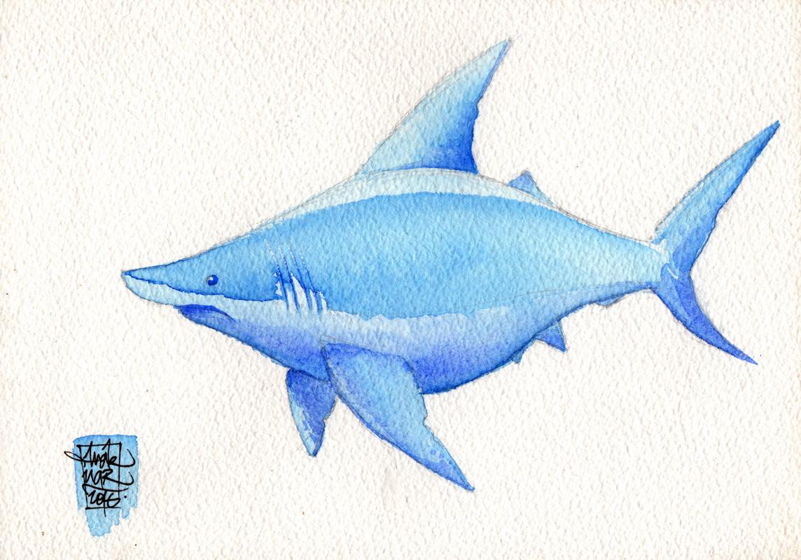 Caricature requin