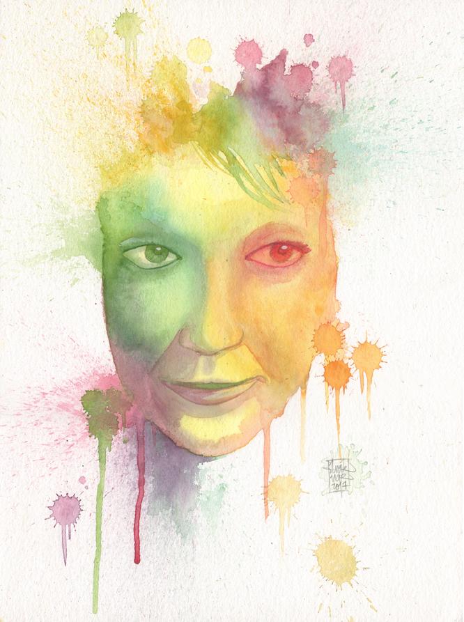 Portrait femme aquarelle 01