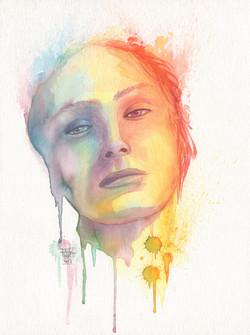 Portrait femme aquarelle 02