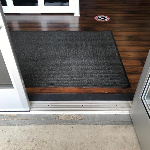 Door transition to inside