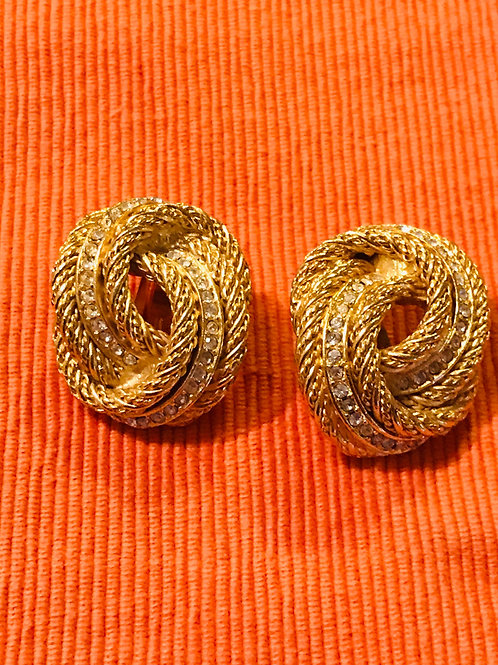 DIOR Vintage Clip on Earrings