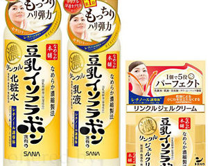 Sana Nameraka NEW products prevents Wrinkles using the Cleanser, toner, lotion and wrinkle gel cream