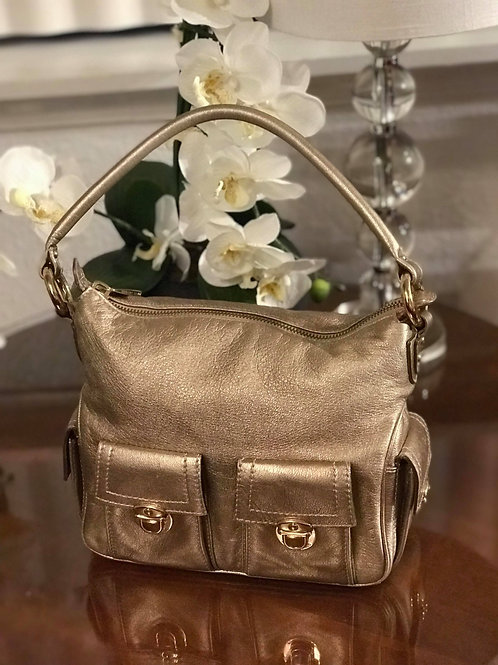 Marc Jacobs Gold Leather Shoulder Bag