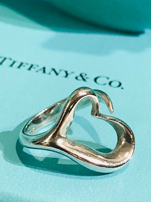 Tiffany & Co. Medium size Open Heart Ring Sz 6.25