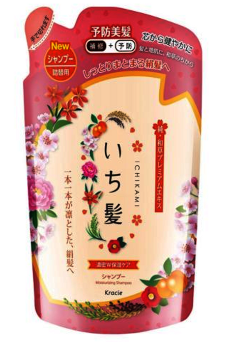 Kracie Ichikami Moisturizing Shampoo 480ml Refill