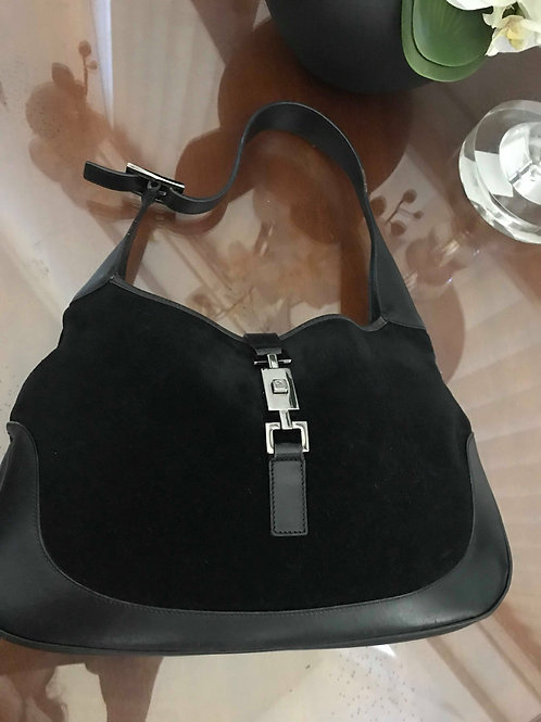 Gucci Jackie-O Leather & Suede Shoulder Bag