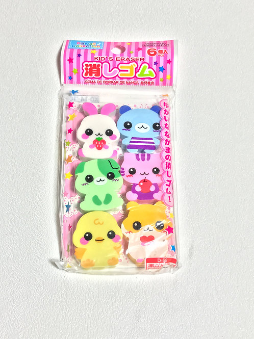 Japanese Animal Erasers