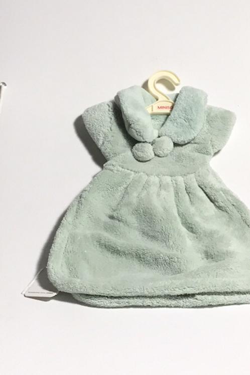 Plush mint green towel address