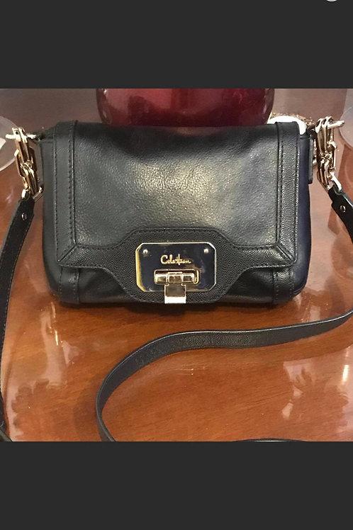 Cole Haan Black Leather Cross Body Bag