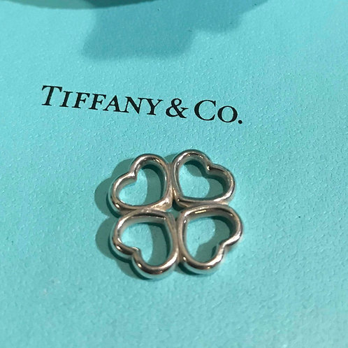 Tiffany & Co Silver Hearts Clover Necklace Pendant
