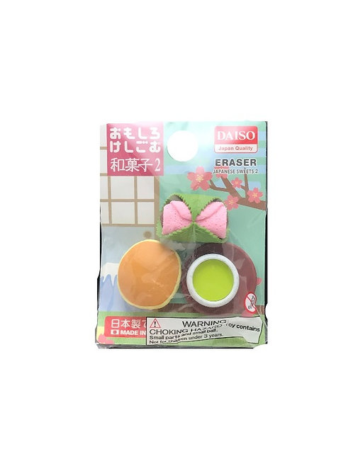 Erasers Japanese Sweets Mochi Dorayaki Green Tea Miniatures Made in Japan