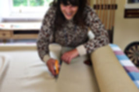 Molly Wemyss, Fabric Walling Specialist at Stretch.  Fabric Walling for Luxury Interiors.