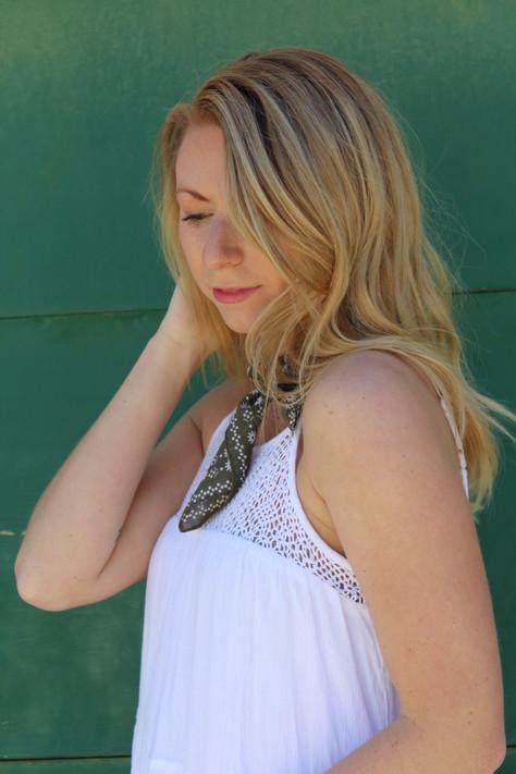 "Skinny Silk Scarf: The ""New"" Choker"