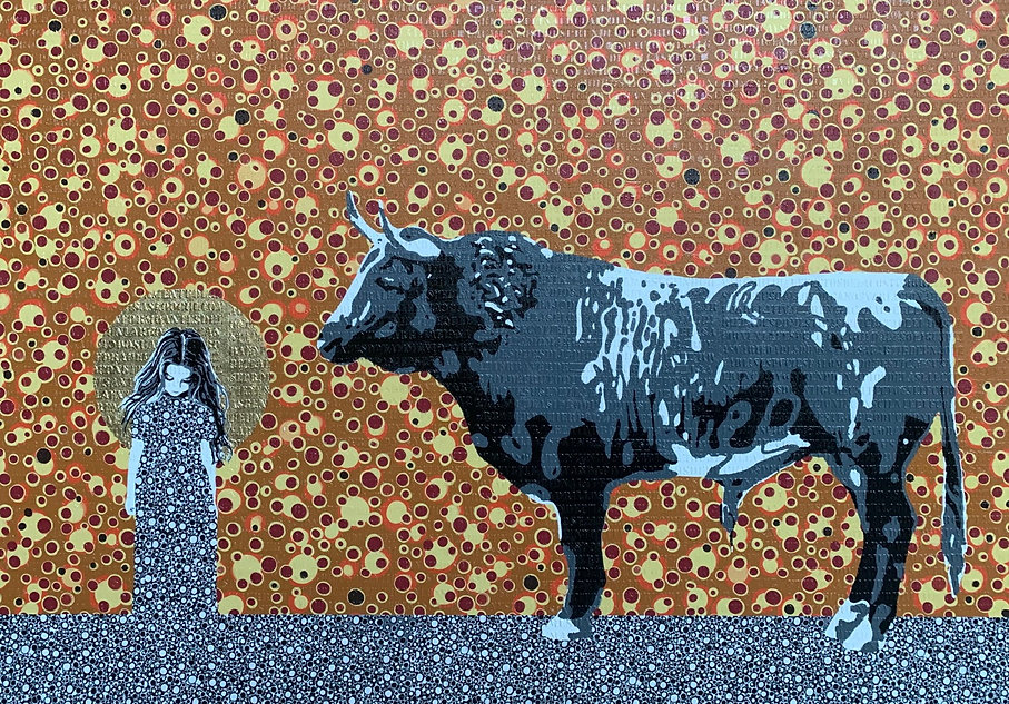 Klimt, Bull, Girl, Symbolism