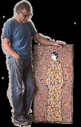 José Cacho Artista mexicano contemporáneo creador de pintura y escultura moderna, inspiración de Klimt y Banksy
