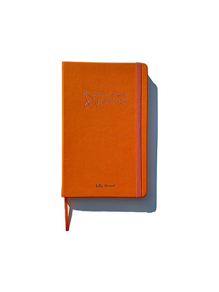 Orange Journal, Vegan Leather Journal, Lined Journal, Journal with Lines, Cruelty Free Gifts, Black Owned Stationary