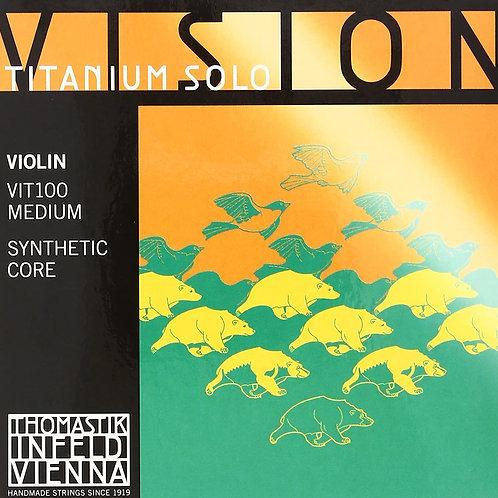 VISION TITANIUM SOLO SYNTHETIC CORE CORDA RE (D) ARGENTO PER VIOLINO - VIT03