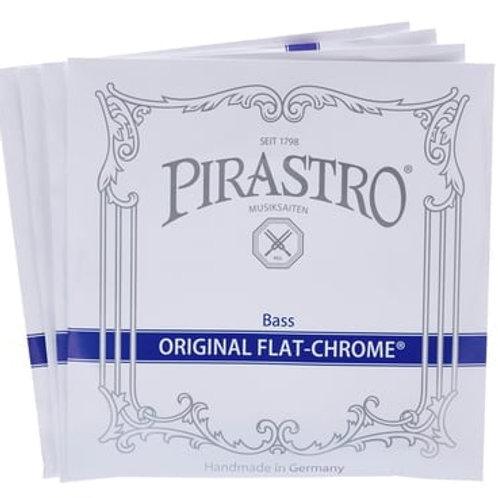 PIRASTRO ORIGINAL FLAT-CHROME MUTA PER BASS SET SOLO MITTLE 347000