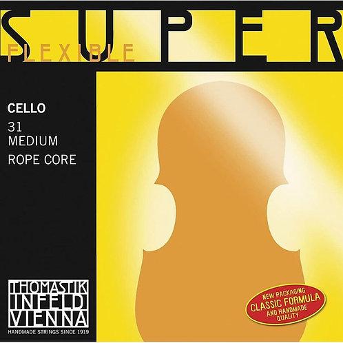 THOMASTIK INFELD SUPERFLEXIBLE SEILKERN CORDA SOL (G) CROMO PER VIOLONCELLO - 28