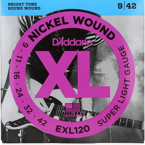 D'ADDARIO XL NICKEL ROUND WOUND CHITARRA ELETTRICA EXL120