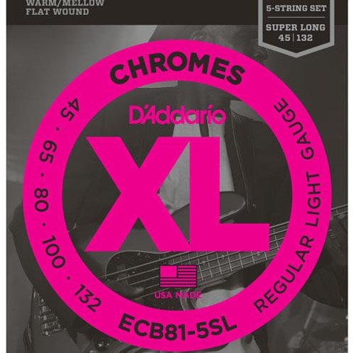 D'ADDARIO XL CHROMES STAINLESS FLAT WOUND H065H