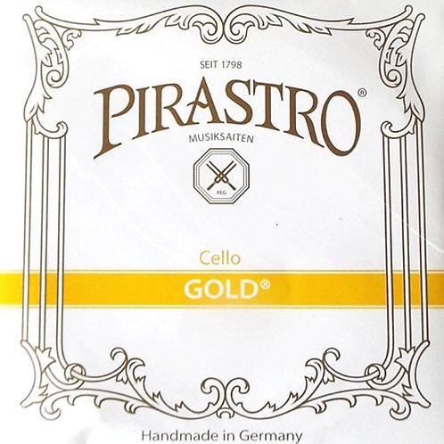 PIRASTRO GOLD CORDA RE (D) PER CELLO GUT/ALUMINIUM MITTLE 235200