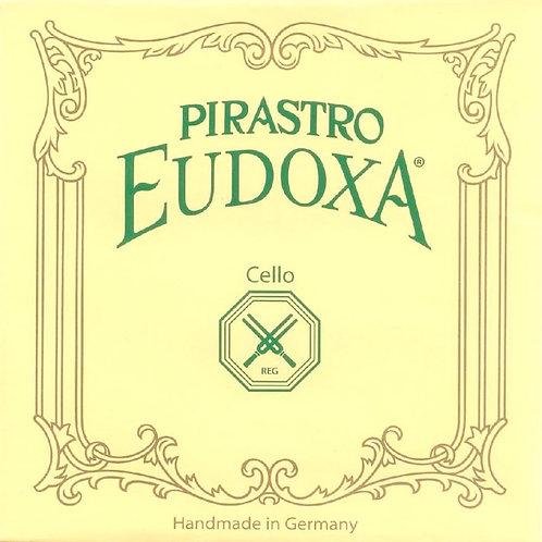 PIRASTRO EUDOXA CORDA RE (D) PER CELLO GUT/SILVER-ALUMINIUM 24 234240