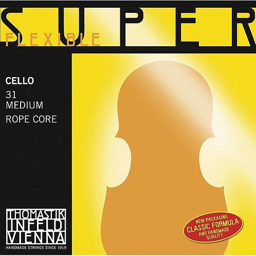 THOMASTIK INFELD SUPERFLEXIBLE SEILKERN CORDA DO (C) CROMO PER VIOLONCELLO - 29