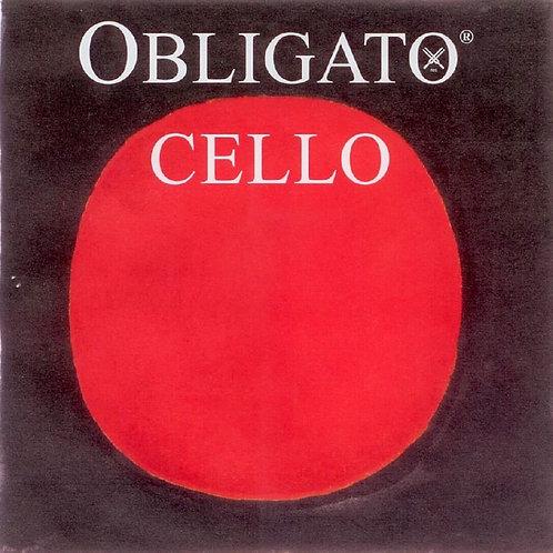 PIRASTRO OBLIGATO CORDA LA (A) PER CELLO STEEL/CHROME STEEL MITTLE 331120