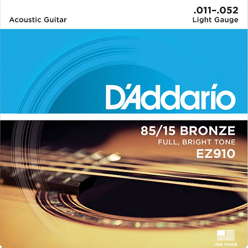 D'ADDARIO 85/15 GREAT AMERICAN BRONZE RW Light 011/052 EZ910